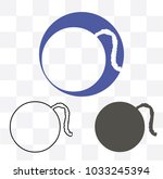 bomb line icon. sign design | Shutterstock .eps vector #1033245394