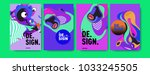 abstract colorful collage... | Shutterstock .eps vector #1033245505