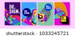 abstract colorful collage... | Shutterstock .eps vector #1033245721