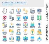computer technology   thin line ... | Shutterstock .eps vector #1033247404