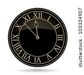 classic clock with roman... | Shutterstock .eps vector #103324907