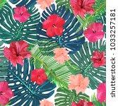 floral seamless pattern.... | Shutterstock .eps vector #1033257181