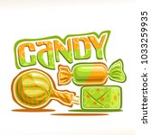vector poster for candy  3... | Shutterstock .eps vector #1033259935