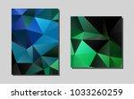 dark blue  greenvector banner...