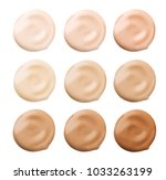 foundation face make up samples.... | Shutterstock . vector #1033263199