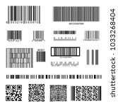 barcode and qr code set... | Shutterstock .eps vector #1033268404