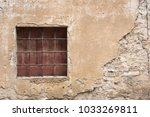 small square window with rebar... | Shutterstock . vector #1033269811
