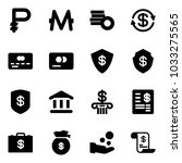 solid vector icon set   ruble... | Shutterstock .eps vector #1033275565