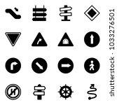 solid vector icon set  ... | Shutterstock .eps vector #1033276501