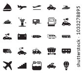 solid black vector icon set  ... | Shutterstock .eps vector #1033278895