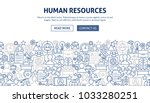human resources banner design.... | Shutterstock .eps vector #1033280251