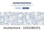 human resources banner design....   Shutterstock .eps vector #1033280251