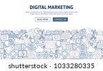 digital marketing banner design. | Shutterstock .eps vector #1033280335
