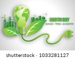 eco friendly  save the planet... | Shutterstock .eps vector #1033281127