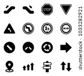 solid vector icon set  ... | Shutterstock .eps vector #1033282921