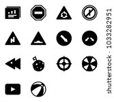 solid vector icon set  ... | Shutterstock .eps vector #1033282951