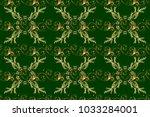 flat hand drawn vintage... | Shutterstock . vector #1033284001