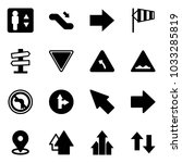solid vector icon set  ... | Shutterstock .eps vector #1033285819