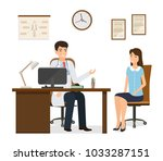 woman patient at a doctor's... | Shutterstock .eps vector #1033287151