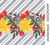 seamless pattern with beautiful ... | Shutterstock .eps vector #1033292449