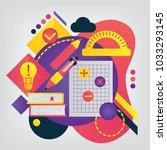 mathematics. set of... | Shutterstock .eps vector #1033293145