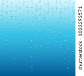 underwater air bubbles foam on... | Shutterstock .eps vector #1033293571