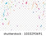 many falling colorful tiny...   Shutterstock .eps vector #1033293691