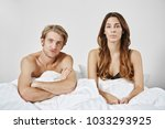 unsatisfied disappointed couple ...   Shutterstock . vector #1033293925