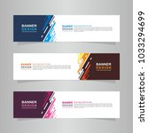Vector abstract design web banner template. Web Design Elements - Header Design. Abstract geometric web banner template on grey background. collection of web banner design template. | Shutterstock vector #1033294699
