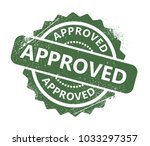 approved rubber stamp   Shutterstock .eps vector #1033297357