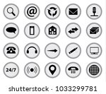 typewriter keys with inset web... | Shutterstock . vector #1033299781