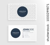 clean business card with square ... | Shutterstock .eps vector #1033299871