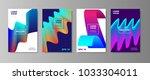 minimal liquid cover designs... | Shutterstock .eps vector #1033304011