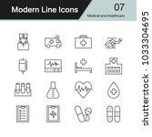 medical and healthcare icons.... | Shutterstock .eps vector #1033304695