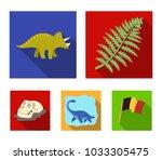 sea dinosaur triceratops ... | Shutterstock .eps vector #1033305475