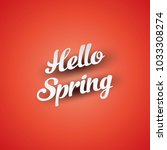 inscription hi spring on a red... | Shutterstock .eps vector #1033308274