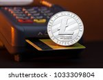 litecoin cryptocurrency payment ... | Shutterstock . vector #1033309804