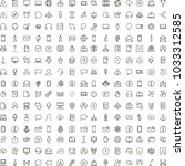 chat icon set. collection of... | Shutterstock .eps vector #1033312585
