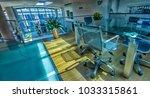 empty meeting room in a modern... | Shutterstock . vector #1033315861