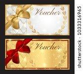 voucher  gift certificate ... | Shutterstock . vector #1033316965