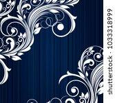 elegant floral background with... | Shutterstock .eps vector #1033318999