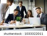 brainstorm. group of business... | Shutterstock . vector #1033322011
