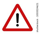 warning sign vector | Shutterstock .eps vector #1033324621