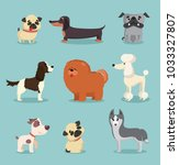 vector illustration set of cute ... | Shutterstock .eps vector #1033327807