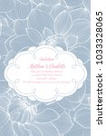 cute wedding invitation with... | Shutterstock .eps vector #1033328065