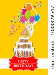 happy birthday card.... | Shutterstock .eps vector #1033329547