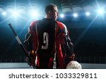 ice hockey players on the grand ... | Shutterstock . vector #1033329811