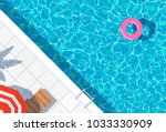 swimming pool top view... | Shutterstock .eps vector #1033330909