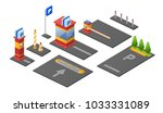 parking lot isometric 3d vector ... | Shutterstock .eps vector #1033331089