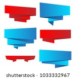 set of bright  ribbons with... | Shutterstock .eps vector #1033332967
